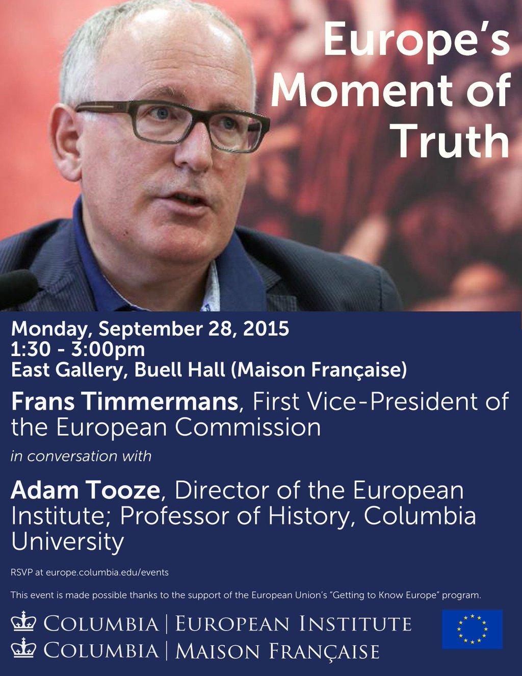 RT @ColumbiaEurope: Announcing EI event…