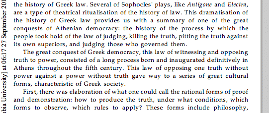 Foucault (Truth and juridical form):…