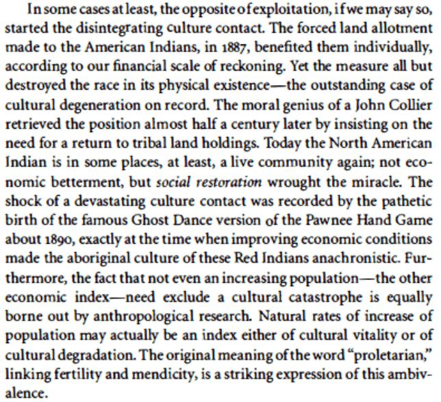 Polanyis 1940s lingo aside, his…