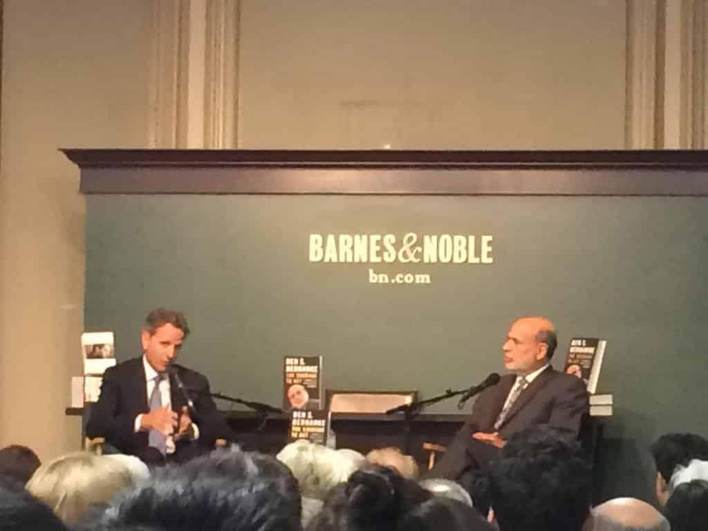At the Bernanke book launch…