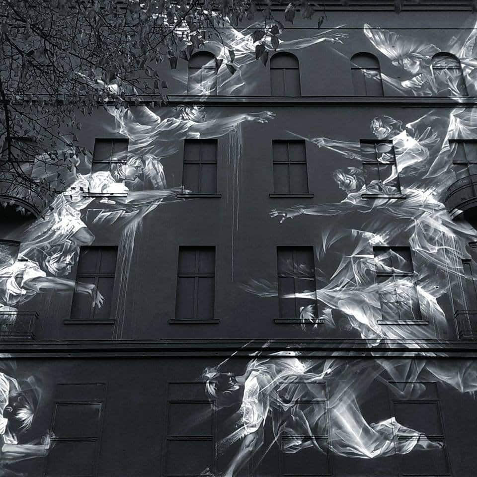 RT @Colossal: Li-Hill's Large-Scale Murals…
