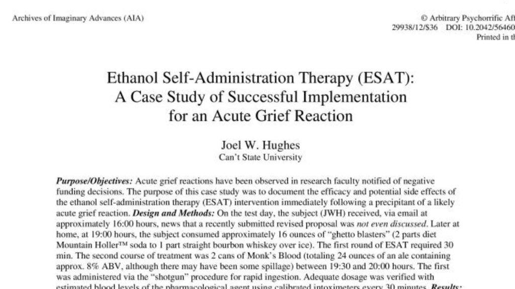 RT @AcademicsSay: On the self-treatment…