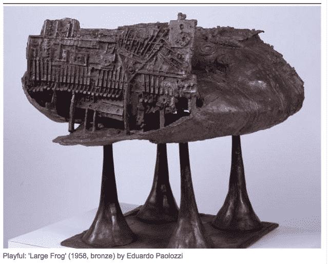 Ballard's interlocutor Paolozzi, Large Frog…
