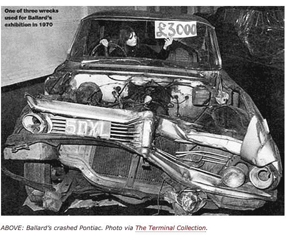 Ballard Crashed Cars Exhibition 1970…