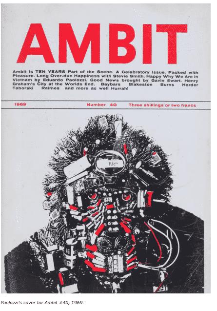 Paolozzi Ambit Cover Art 1969…