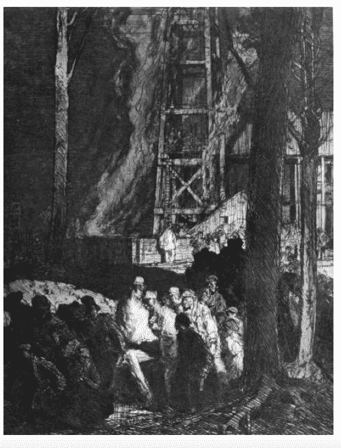 Brangwyn, Coal Mine after an…