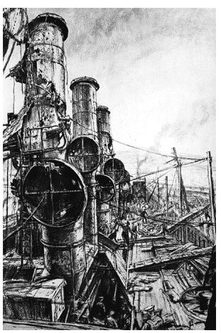Muirhead Bone HMS Vindictive after…