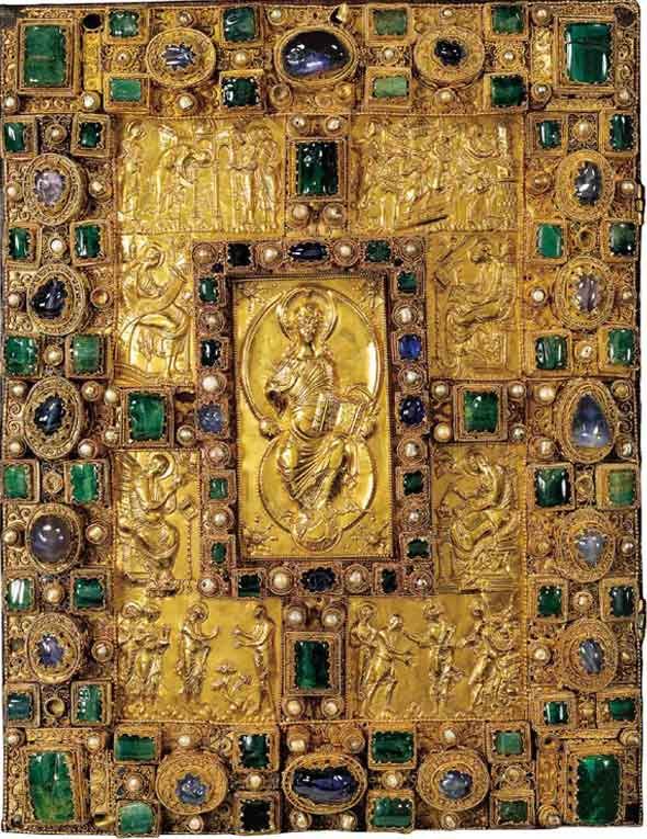 RT @GroovyHistorian: The jewelled cover of the Codex…