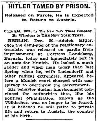 "RT @HistoricalPics: ""Hitler Tamed By…"