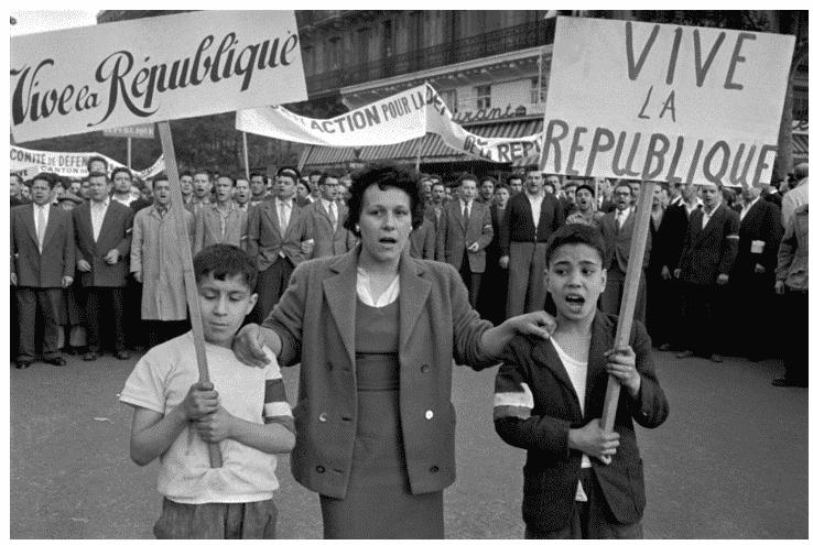 28 May 1958 Paris protests…