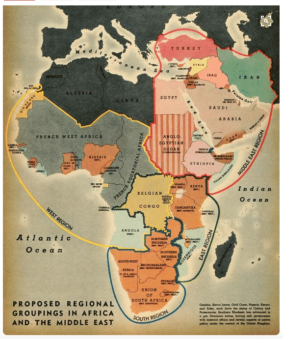 Proposed regional grouping for Africa…