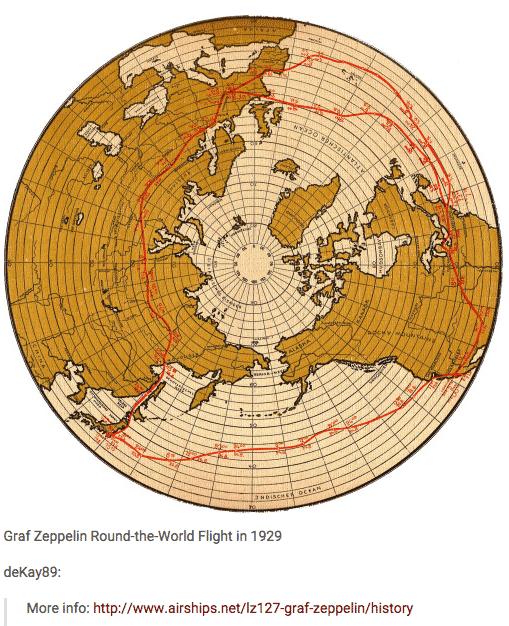 Graf Zeppelin's round the world…
