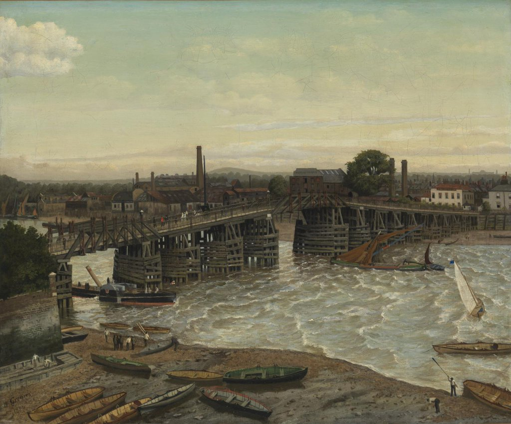 RT @JohnConstableRA: Old Battersea Bridge…