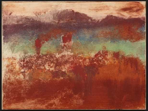 Degas monotype landscapes at MOMA…