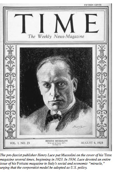 Mussolini on cover of Henry…