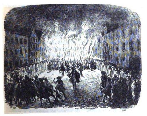 Menzel's impression of torchlit coronation…