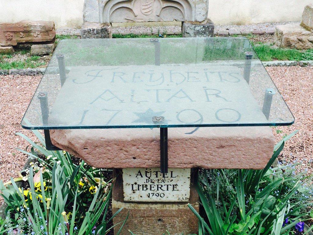 1790 freedom altar in Riquewihr…