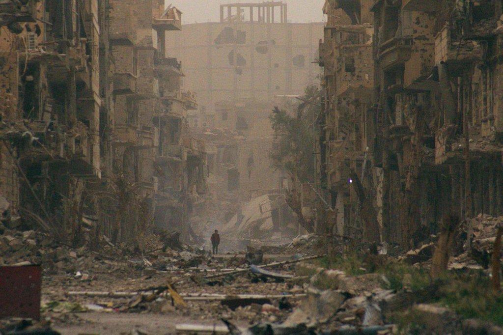 RT @intlspectator: IMAGE: Devastation in…