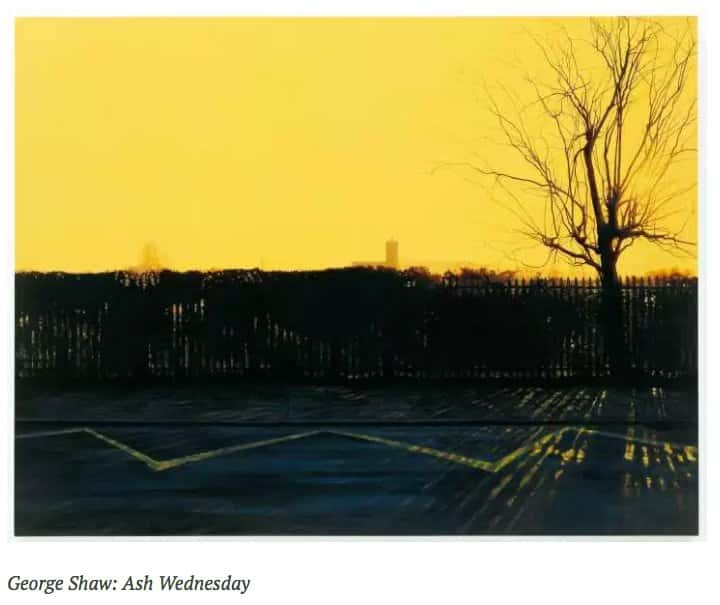 George Shaw Ash Wednesday https://t.co/LKS2pgEy1H