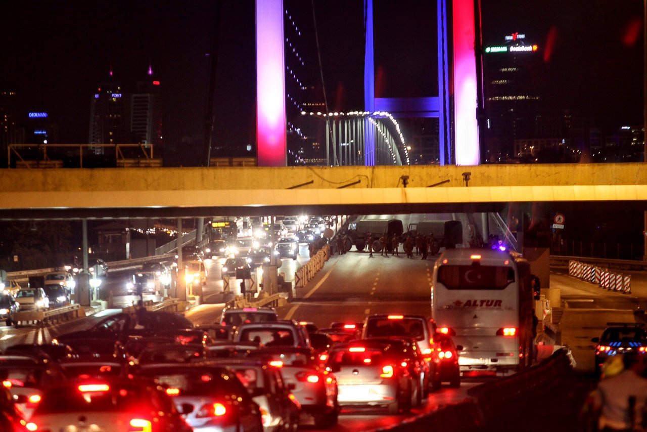 RT @TheWorldPost: The Bosphorus bridge…