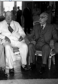 Mussolini&Chamberlain 1938l, Churchill&Badoglio 1950s. If…