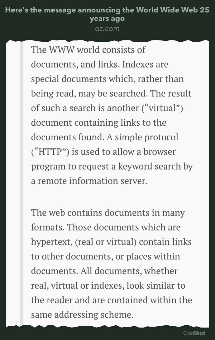 "RT @Reddy: ""The WorldWideWeb project,""…"