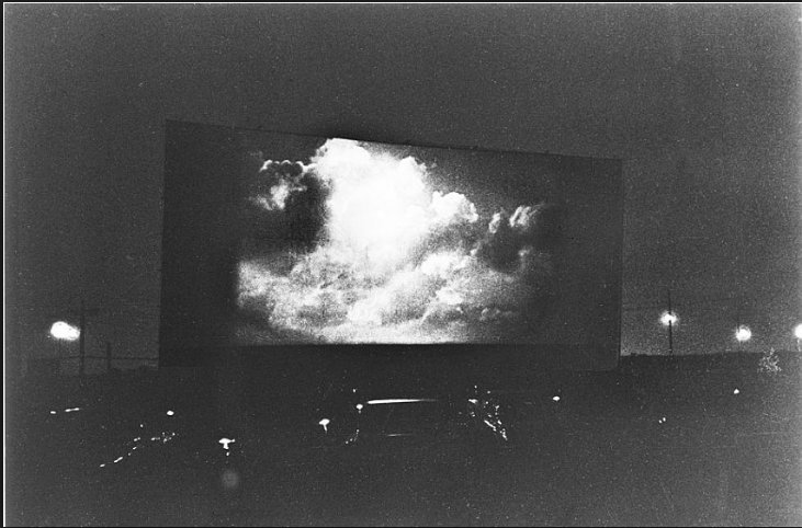 DIANE ARBUS Clouds on screen…