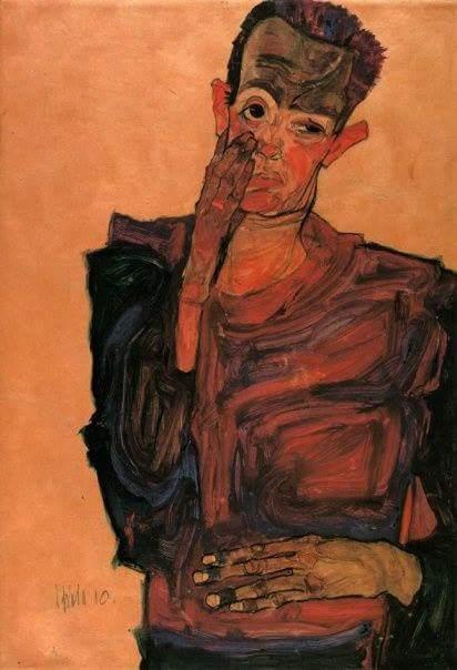 "RT @Revizorsb: ""#Self-portrait, 1910, #EgonSchiele…"