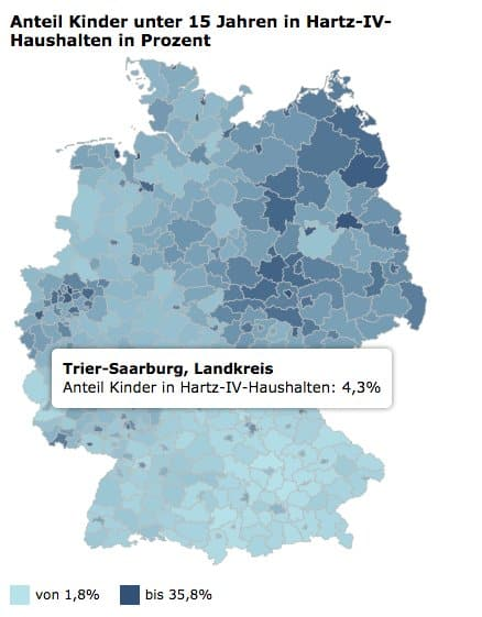 Pronounced inequality in Germany: %…