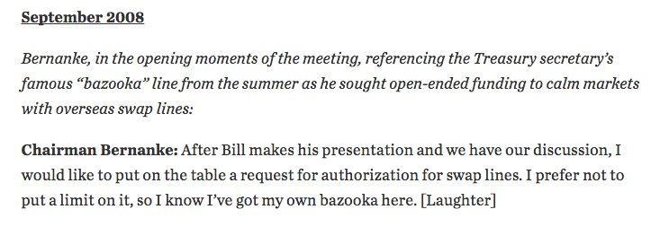 Bernanke gets his own bazooka…