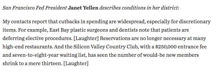 Yellen on the mood in…