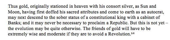 Keynes brilliance on the politics…
