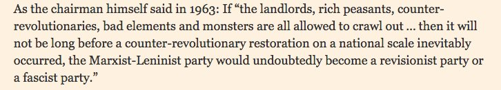 FT quoting Mao 1963 on…