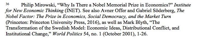 Nobel Prize in Economics was…