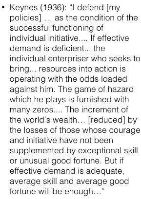 Keynes on the aggregate demand…