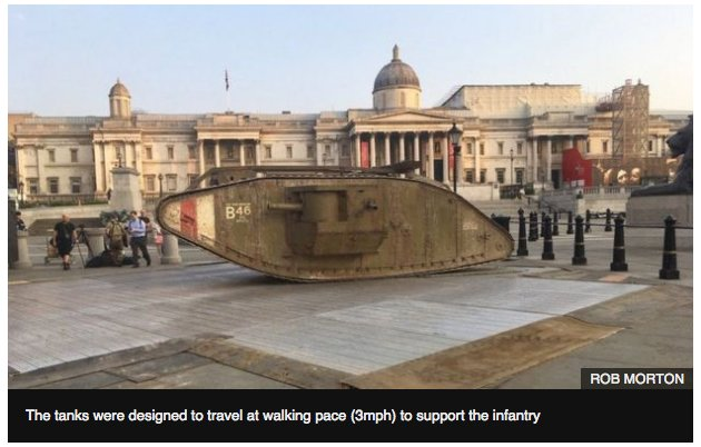 A Vickers tank in Trafalgar…