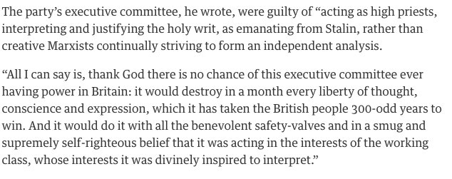 EP Thompson about the CPGB…