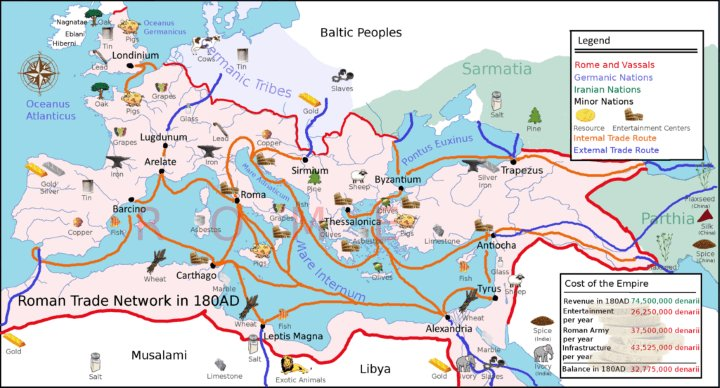 RT @BrilliantMaps: Roman Empire Trade…