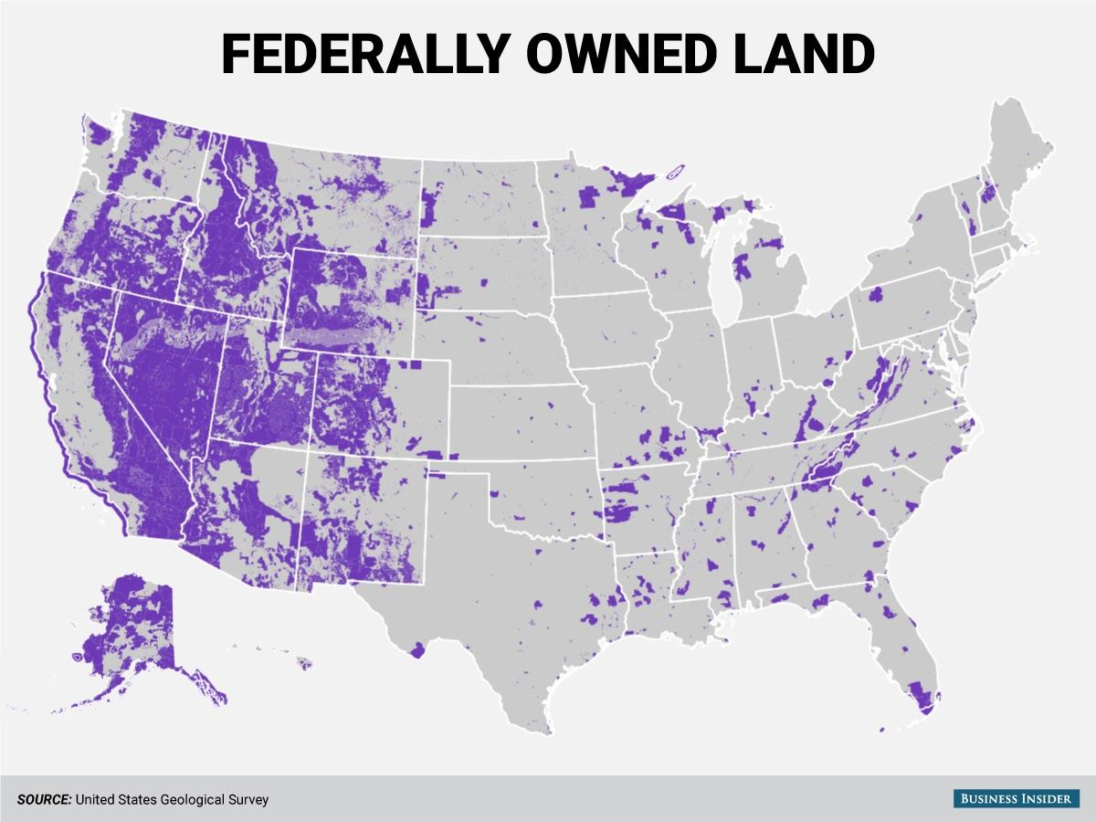 RT @onlmaps: Federally Owned Land…
