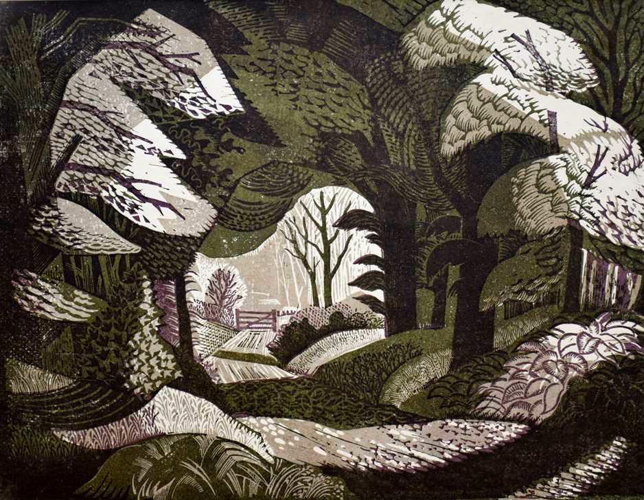 "RT @Brindille_: ""Woodland Path"", 1942 Colour…"