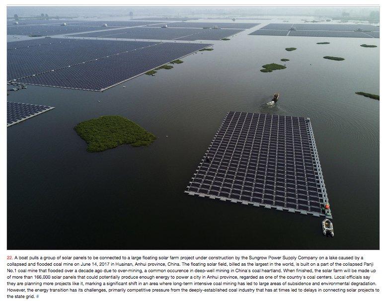 The transition: Giant solar arrays…