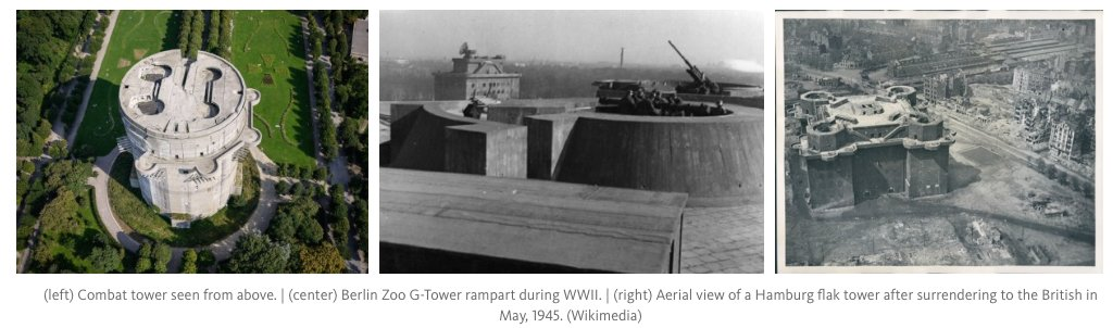 The flak towers of the…