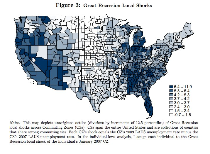 Where the Great Recession hit…