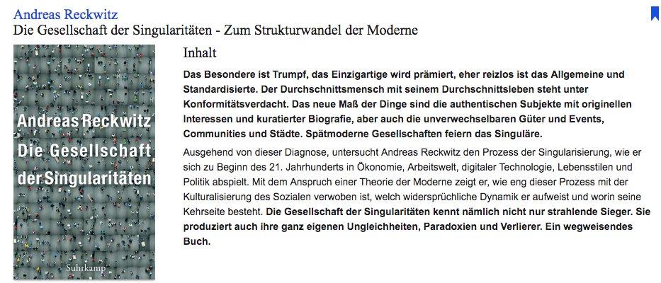 More German cultural sociology Reckwitz…