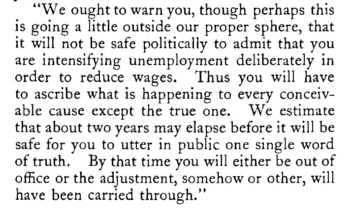 Keynes on the political consequences…