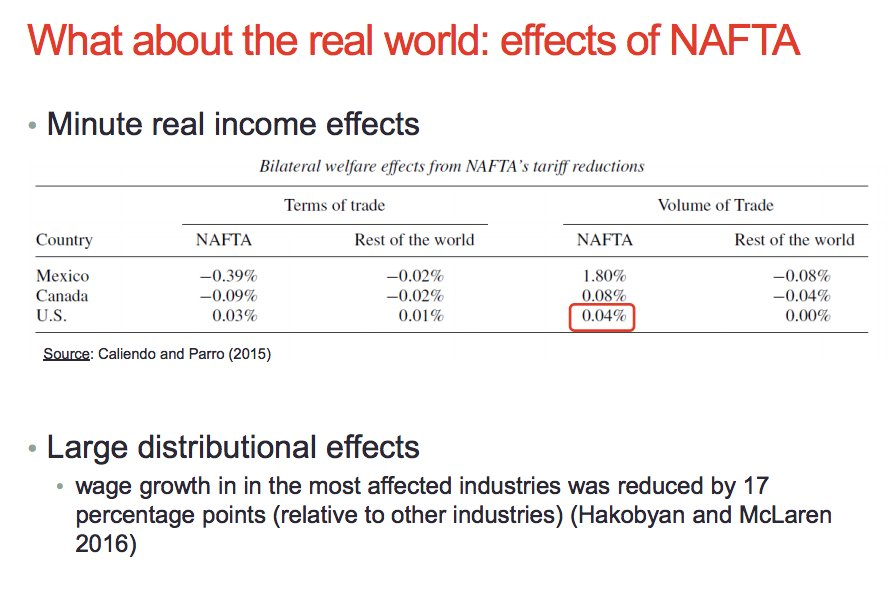 NAFTA is not so much…