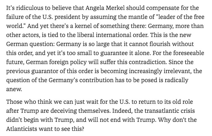 The transatlantic crisis did not…