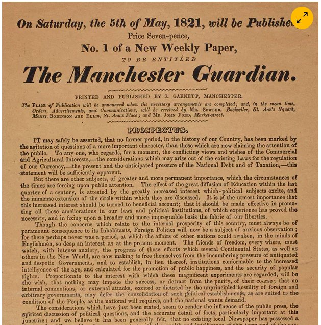 Manifesto of the Manchester Guardian…