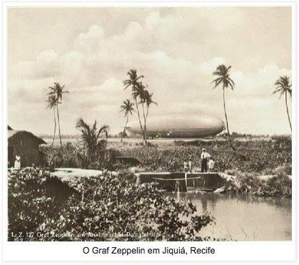 Zeppelin docked in Recife Brazil…