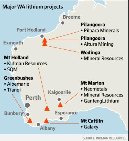 Western Australia's Lithium deposits may…